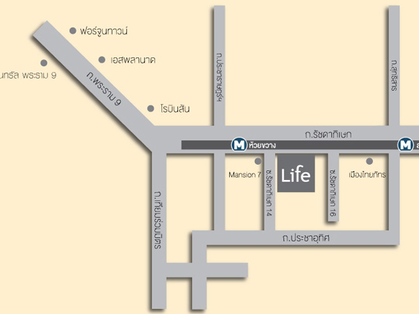 LIfe Ratchadapisek Location Map