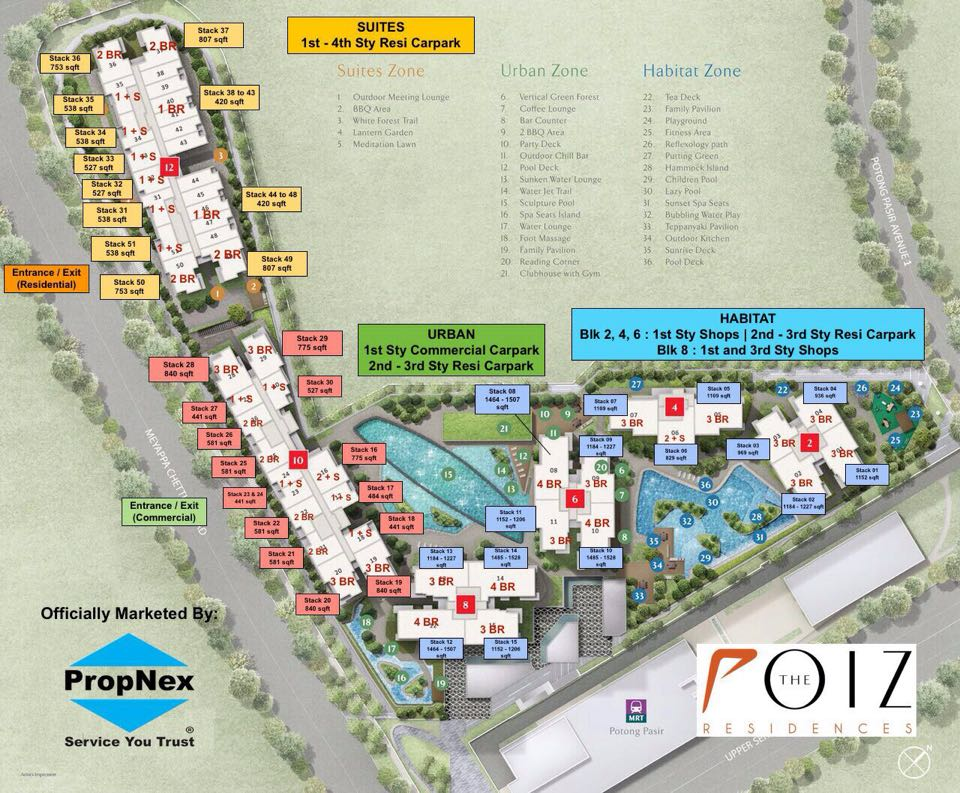 The Poiz residences site layout