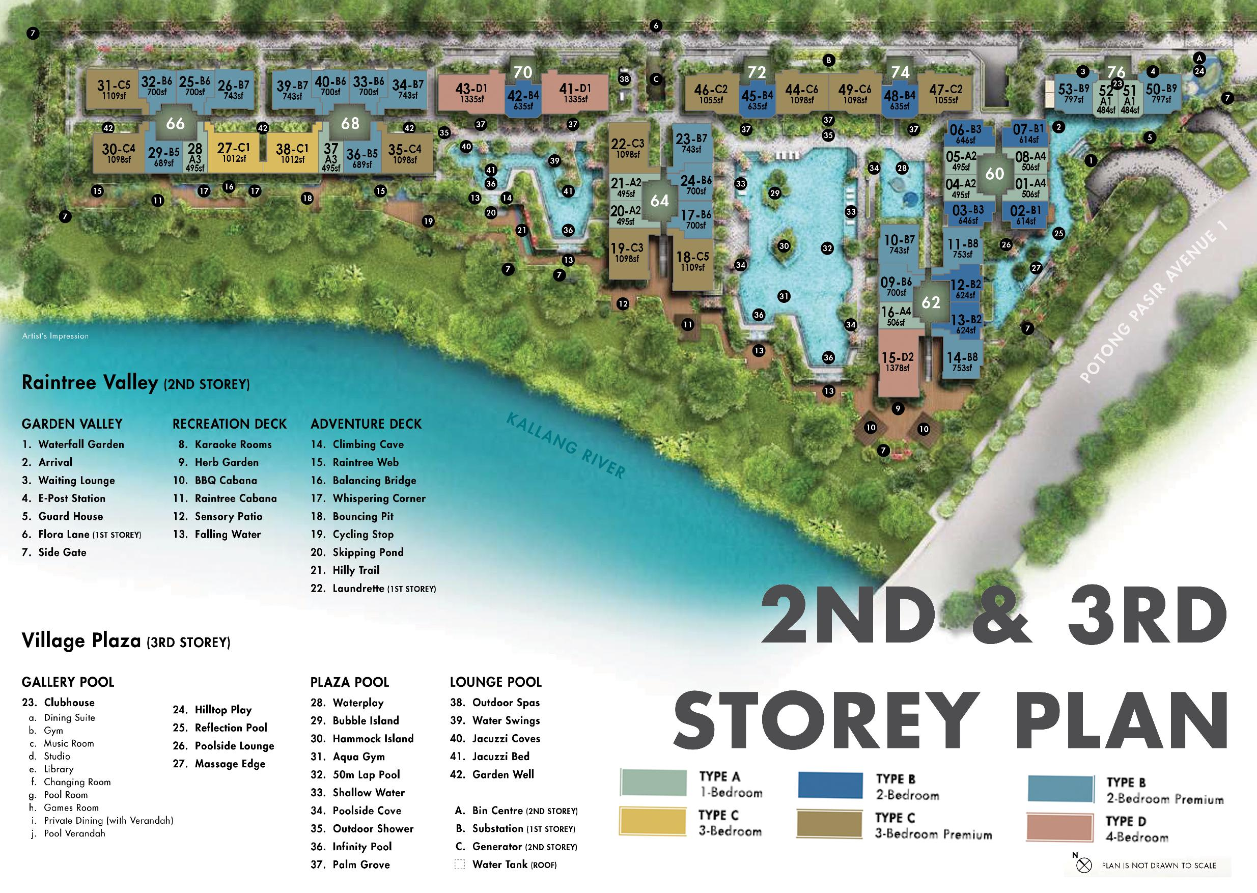 The Tre Ver site plan