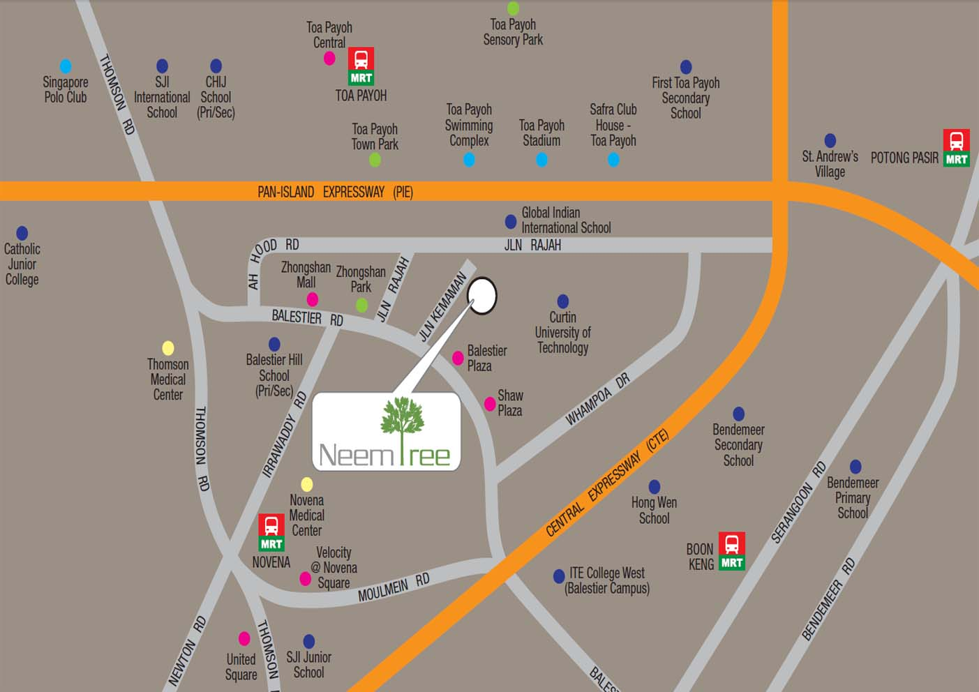 Neem Tree Location map